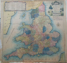 Original c1780 Map of England & Wales by Kitchin - Hand Coloured, Georgian Roads