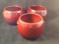 West Bend Individual Open Bean Pots Brown Set/3