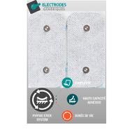 sachet de 2 électrodes pad Snap rectangle 50x100mm compatible Compex