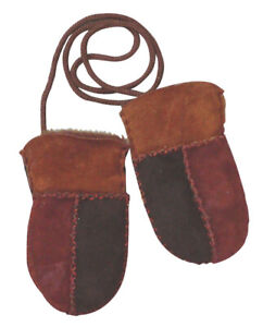 Baby Lambskin Mittens Gloves 100% Lamb Leather One Size Baby