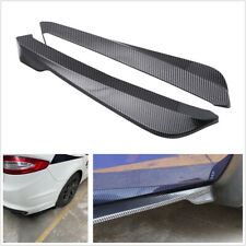 2X49cm Carbon Fiber Look Diffuser Spoiler Lip Wing Splitter For Car Rear Bumper