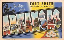 Large Letter postcard Greetings from Fort Smith Arkansas Gateway to the Ozarks