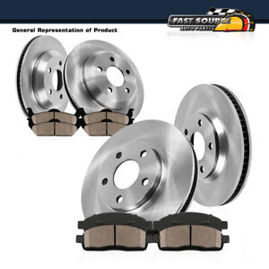 For 2007 2008 2009 Chevy Equinox XL-7 Front Rear Brake Rotors + Ceramic Pads
