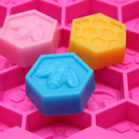 19 Cell Chocolate Mould Beeswax Ice HoneyComb Bee Silicone Mold Pan DIY Tool Use