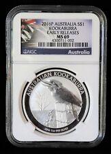 2016-P ** AUSTRALIA KOOKABURRA ** 1 OZ. .999 SILVER ** NGC MS69 ** GEM BU **