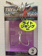 Ancorette Decoy Y-F55 Treble Hook Light Jigging Treble Hooks Size 2
