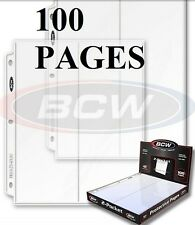 100 BCW.PRO 2 POCKET 10 cm X 25.5 cm 4x10 INCH ENVELOPE PAGE