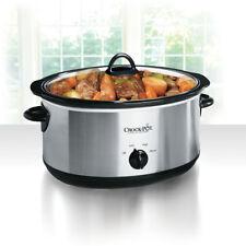 Crock-Pot 8-Quart Manual Slow Cooker, Stainless Steel SCV800-S