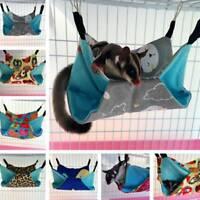 Pet Hammock for Ferret Chinchilla Rat Rabbit Hanging Warm Canvas Toy House Bed