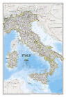 National Geographic: Italy Classic Wall Map (23.25 X 34.25 Inches) BOOK NEW