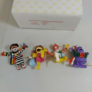 Mcdonalds Character Ornaments Christmas complete set of 4