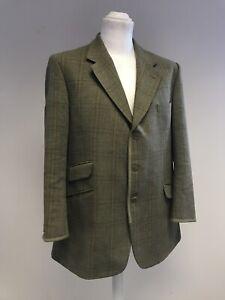 "Mens Tweed John G Hardy of London Blazer Green Wool 42/44"" Chest   L13"
