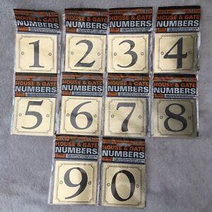 Gold Black Self Adhesive Numbers Pick 0-9 Sticker Sign Door House Bin Wall Gate