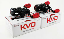 (LOT OF 2) QUANTUM PT KVD SMOKE S3 SKVD101HPT 7.3:1 LEFT HAND BAITCAST REEL
