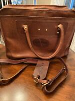 Orvis Bullhide Heavy Thick leather Messenger Bag briefcase