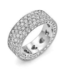 3.50 Ct Round Natural Diamond Eternity Wedding Band Ring 18k White Gold F VS1