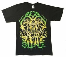 Suicide Silence Abstract Skull Image Black T Shirt Medium New Official