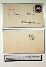 CHILE 1890 5c POSTAL STATIONERY FROM SANTIAGO TO IQUIQUE