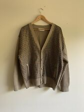 Glenhusky Pure New Wool Vintage Tweed Grandpa Cardigan XL