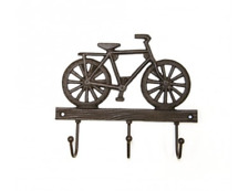 BICYCLE Shaped 3 Key Hook / Holder - Cast Iron Bike Design Key Wall Rack