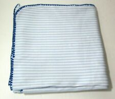 """New listing Lambs & Ivy Blue Striped Baby Blanket 42"""" x 42"""""""