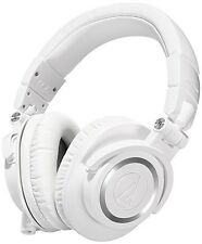 Audio-Technica ATH-M50x Sound-Isolating Monitor Headphones (White)
