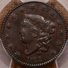 1833 N.1 Coronet Head Large cent, PCGS AU53, very pleasing   DavidKahnRareCoins