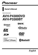 Pioneer AVH-P4300 AV Receiver Owners Manual