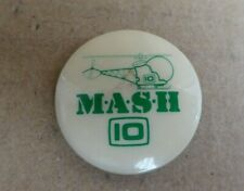 1980s CHANNEL 10  MASH BUTTON DAY BADGE HELICOPTER M.A.S.H PIN