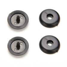 2 Sets Black Universal Clip Seat Belt Stopper Buckle Safety Car Parts  LE