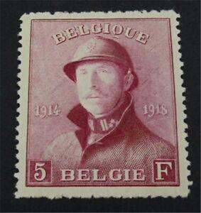 nystamps Belgium Stamp # 136 Mint OG H $100   L23y098