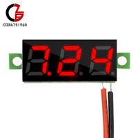 "5PCS 0.28"" 2 Wire Digital Mini DC Voltmeter Voltage 3 Digit Red LED Volt Meter"