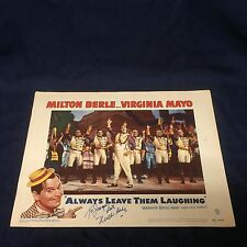 Milton Berle Rare Alway Leave Them Laughing Signed Autograph Lobby Card Photo