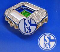 Pin / Anstecker + FC Schalke 04 Signet + Arena / Stadion GE + Lizenzprodukt #2