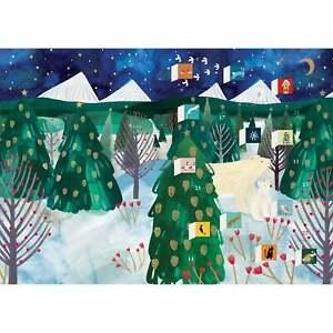Roger la Borde Polar Bear Christmas Advent Calendar Card