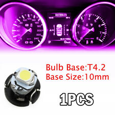 1 x T4 T4.2 Neo Wedge Pink Car Instrument Cluster Panel Lamps Gauge LED Bulb