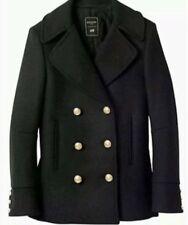 Balmain x H&M Black Wool Pea Coat, size 10, Worn a few times