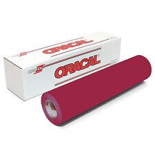 ORACAL 651 Outdoor Permanent Vinyl - DARK RED 12in x 10ft Roll