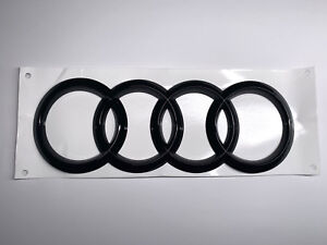 Audi Rear Gloss Black Badge RING Emblem Sticker For Audi A5 S5 RS5 Coupe