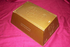 Vegas Gold Cigar Box Wood Wooden Old Vintage Tobacco Case Holder Brick Rare