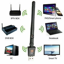 Dual Band 2.4/5Ghz Wireless USB WiFi 600 Mbps Network Adapter w/Antenna 802.11