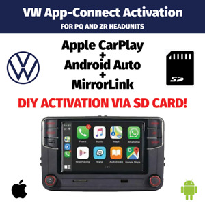 VW Volkswagen App Connect Activation Apple CarPlay Android Auto PQ ZR SD CARD