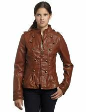 NWT Steve Madden Junior's Military Jacket in Cognac, Size Large