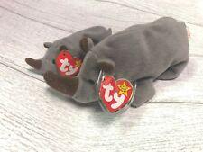 Spike Rhino 4th Generation 1996 Retired Ty Beanie Baby Collectible & Teenie Lot