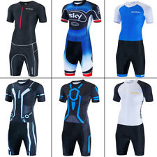 Men 2021 Triathlon Tri Suit Padded Compression Running Swimming Cycling Skinsuit
