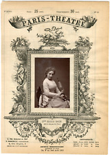 Cliché Carjat, Paris-Théâtre, Marie Rôze née Maria Hippolyte Ponsin (1846-1926),