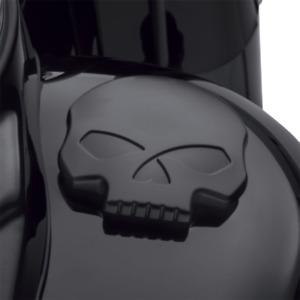 Harley Davidson Black Willie G Skull Fuel Cap - 61100103a