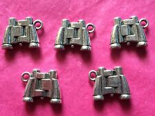 Tibetan Silver Binoculars Charm - 5 per pack - holiday/camping themes