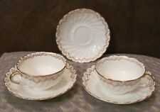 Cups & Saucers 5pcs GJ & Sons Gilman Collamore Pattern a1545 1890's