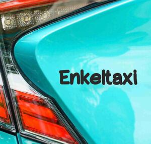 AU 1 - Autoaufkleber Enkeltaxi Sticker für Oma und Opa Babyaufkleber